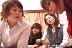 Cute asian school girls got licked