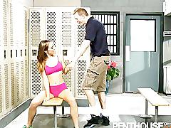 Kristina rose hot sweaty locker room sex