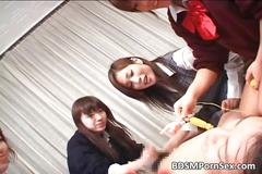 Crazy asian girls enjoy in bdsm play