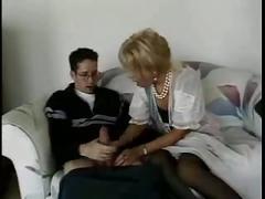 Mom help boy