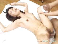 Milf getting her hairy pussy fucked by young guy cum...