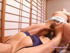 Asian woman in skirt licked fingered fucked with...