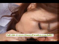 Risa kasumi amateur asian babe does blowjob