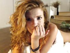 close-ups, redheads, small tits, tits, webcams
