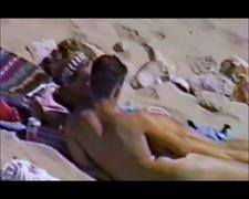 Young couple having sex at the beach part 1