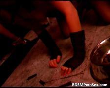 Nasty hot blonde slave loves bdsm