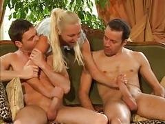 Sexy blonde dp