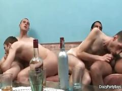 Party dudes drinking and fucking