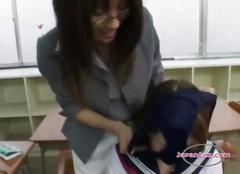 Schoolgirl drawing teachers pussy getting her tongue...