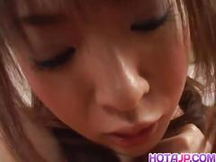 Naughty rin aoyama vibrating her hairy cunt