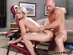 Hot milf simone sonay sucks, fucks & swallows cum.