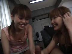 Two japanese jav girls handjob