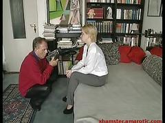 Meeting blonde girl in a toilet