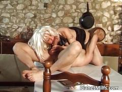 Platinum blonde milf got banged hardly