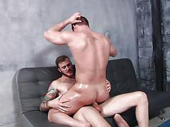 Christian and joey fuck each other hard with an intense orgasm