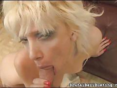 Bad girl bites his cock
