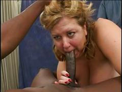 Blonde in heat banged by 2 cocks