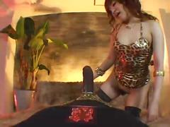 Virtual cowgirl pov with bbc dildo