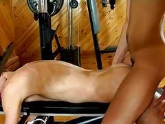 Gym anal threesome with aj, karl and josh