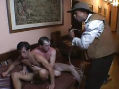 Hot muscled bandits furious anal slamming session