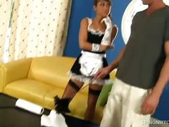 Sexy maid jesse jordan hardcore sex with master