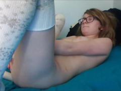 Amazing girl masturbating horny & alone