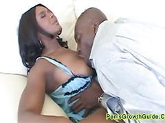 Big tits ebony do a tit fuck
