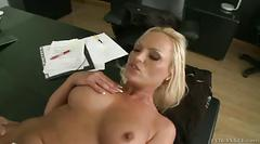 Blonde milf secretary gets ass fucked