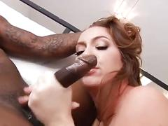 Sexy pawg ir ass-fucked and swallows cum