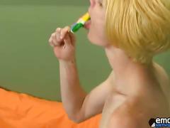 Blond emo boy preston fucks tight ass of jordan