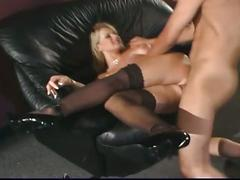 Busty blonde probes she is a insatiable slut