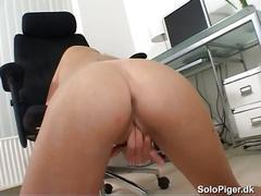 Amateur from denmark masturbating