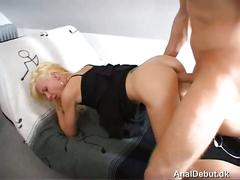Maria from denmark anal fucked for the first time