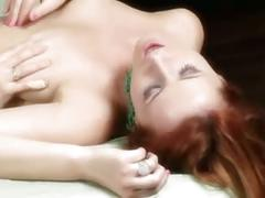Redhead babes licking pussies in 69 position