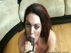 Alyssa dior opens wide for a real manns cock!