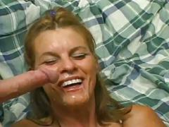 Anal threesome with blonde milf angelica