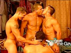 Arab hunks bukkake and orgy session