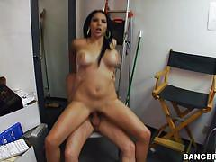 Latina gets sperm in her hair