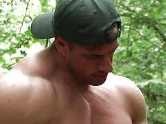 Fucking outdoor by the stream