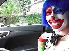 Clown girl sucked my dick