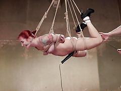 milf, whip, bdsm, hanging, redhead, high heels, tied, domination, tattooed, sex toys, hogtied, kink, sophia locke