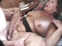 Sexy hairy milf fucks