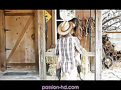 Passionhd cowboy  cowgirl have ranch sex