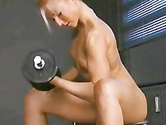 blonde, fetish, small-tits, babe, fitness, natural-tits, squat, gym, feels, skinny, solo, weight-lifting, muscular