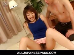 Raw hairy pussy fucking with japanese yuuka