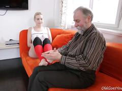 [oldgoesyoung] olga (olga and old goes young guy fuck in storage unit
