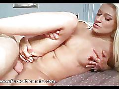 Blond mom suck and fuck a thick cock