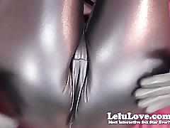 Lelu lovecatsuit latex gloves handjob