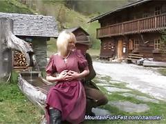 Busty german milf needs hard mountain anal sex