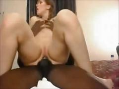 Hot redhead hooks up with black guy
